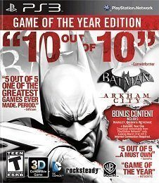 Batman Arkham City Game of the Year Edition PS3